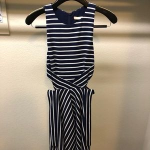 Hutch Anthropologie dress, Sz 2 petite Navy Stripe